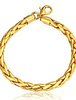 cheap -Men's Chain Bracelet , Fashion Gold Plated Circle Jewelry Gift Daily Costume Jewelry