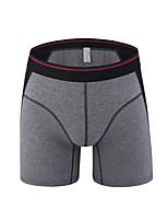 cheap -Men's Briefs Underwear Solid Colored Striped Mid Waist