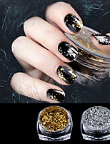 cheap -2pcs Glitter Powder Mirror Effect Nail Glitter Nail Art Design