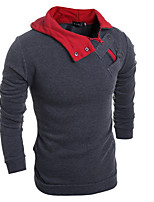 cheap -Men's Loose Hoodie - Color Block Hooded