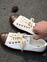 abordables -Homme Chaussures Toile Printemps Eté Confort Basket pour Décontracté Blanc Noir