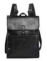 cheap -Men's Bags PU Backpack Zipper for Casual Office & Career All Seasons Black Coffee Khaki
