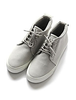 Недорогие -Муж. обувь Полотно Весна Осень Удобная обувь Кеды для Повседневные Черный Серый