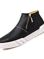 Недорогие -Муж. обувь Искусственное волокно Весна Осень Удобная обувь Кеды для Повседневные Черный Коричневый Винный