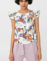 cheap -Women's Basic T-shirt - Floral, Print