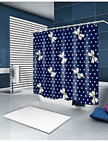 cheap -Shower Curtains & Hooks Casual Polyester Novelty Machine Made Waterproof