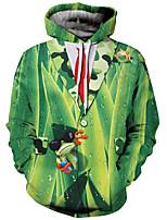 cheap -Men's Loose Hoodie - Color Block Hooded