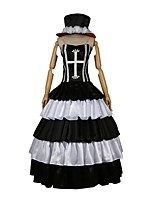 cheap -Inspired by One Piece Perona Cosplay Anime Cosplay Costumes Cosplay Suits Other Sleeveless Dress Hat For Men's Women's