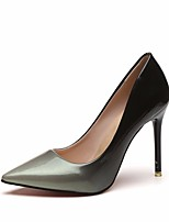 cheap -Women's Shoes PU Spring Fall Basic Pump Comfort Heels Stiletto Heel for Gray Red