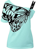abordables -Tee-shirt Femme simple Epaules Dénudées