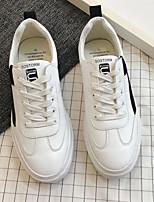 Недорогие -Муж. обувь Искусственное волокно Весна Осень Удобная обувь Кеды для Повседневные Черный Красный Зеленый