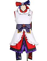 baratos -Inspirado por Amar viver Outro Anime Fantasias de Cosplay Ternos de Cosplay Outro Sem Manga Vestido Luvas Meias Mais Acessórios Faixa /