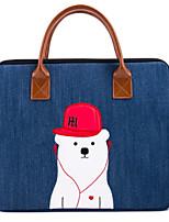 Недорогие -сумки для рукавов для macbook pro 13-дюймовая животная оксфордская ткань