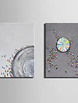 abordables -Peint à la main Abstrait Paysage Format Vertical, Moderne Toile Peinture à l'huile Hang-peint Décoration d'intérieur Deux Panneaux