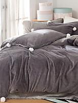 cheap -Duvet Cover Sets Solid 4 Piece Poly/Cotton 100% Cotton Reactive Print Poly/Cotton 100% Cotton 1pc Duvet Cover 2pcs Shams 1pc Flat Sheet