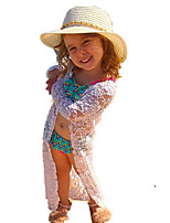 cheap -Girls' Daily Going out Solid Jacquard Suit & Blazer, Cotton Acrylic Spring Summer Long Sleeves Vintage Cute White