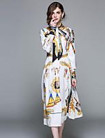cheap -Maxlindy Women's Vintage / Street chic A Line Dress - Geometric