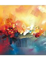 Недорогие -Hang-роспись маслом Ручная роспись Абстракция Квадратный, Современный Modern холст Украшение дома 1 панель