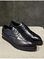 cheap -Men's Shoes Nappa Leather Spring Fall Comfort Oxfords for Casual Party & Evening Black Wine