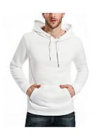 cheap -Men's Slim Hoodie - Solid Hooded