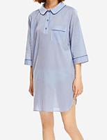 abordables -Satin & Soie Pyjamas Coton Femme - Dentelle, Couleur Pleine