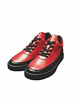 cheap -Men's Shoes PU Spring Fall Comfort Sneakers for Casual Red Blue