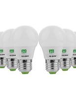 baratos -YWXLIGHT® 6pcs 3W 200-300 lm E26/E27 Lâmpada Redonda LED 6 leds SMD 5730 Decorativa Branco Quente Branco Frio AC / DC 12-24V