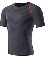economico -Per uomo T-shirt da corsa Manica corta Traspirabilità T-shirt per Esercizi di fitness / Attività all'aperto Poliestere Verde / Blu /