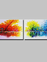 cheap -Hand-Painted Abstract Landscape Horizontal, Modern Canvas Oil Painting Home Decoration Two Panels
