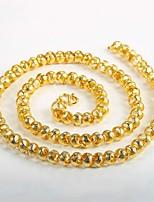 preiswerte -Herrn überdimensional vergoldet Ketten - vergoldet überdimensional Rock Kreisform Modische Halsketten Für Klub Strasse