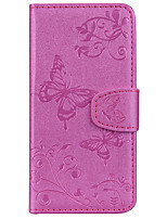 cheap -Case For Apple iPhone X iPhone 8 Card Holder Wallet with Stand Pattern Embossed Full Body Cases Butterfly Hard PU Leather for iPhone X