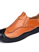 Недорогие -Муж. обувь Кожа Весна Лето Формальная обувь Удобная обувь Мокасины и Свитер для Повседневные Офис и карьера Черный Коричневый