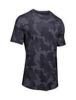 abordables -Homme Tee-shirt de Course Manches Courtes Respirabilité Tee-shirt pour Exercice & Fitness Polyester Blanc / Noir L / XL / XXL