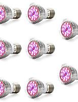 abordables -8pcs 5.5W 120 lm E26/E27 Cultiver des ampoules 18 diodes électroluminescentes SMD 5730 Rouge 85-265V
