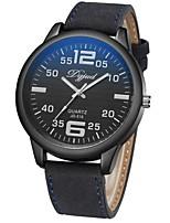 Недорогие -Муж. Кварцевый Модные часы Японский Повседневные часы Кожа Группа На каждый день Черный