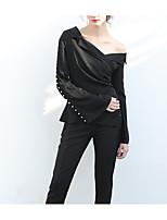abordables -Tee-shirt Femme,Couleur Pleine Rayé Actif