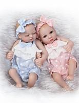 Недорогие -Куклы реборн Принцесса Новорожденный как живой Милый стиль Полный силикон для тела Все Подарок