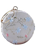 cheap -Women's Bags Polyester Evening Bag Embroidery Flower for Wedding Event/Party All Seasons White
