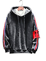 cheap -Men's Long Sleeves Hoodie - Color Block Hooded