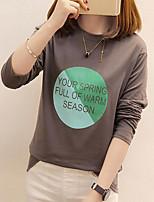 cheap -Women's Plus Size Loose T-shirt - Letter