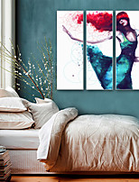 cheap -Abstract People Illustration Wall Art, Plastic Material With Frame For Home Decoration Frame Art Living Room