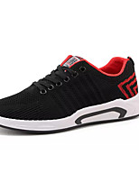 cheap -Men's Shoes Tulle Spring Fall Comfort Sneakers for Casual Black Red Blue