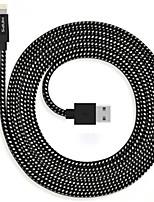abordables -Iluminación Adaptador de cable USB Carga rapida Alta Velocidad Cable Para iPhone 300 cm Nailon