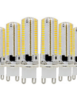 cheap -YWXLIGHT® 6pcs 7W 600-700 lm G9 LED Bi-pin Lights T 152 leds SMD 3014 Dimmable Warm White Cold White 110-130V 220-240V