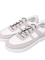 Недорогие -Муж. обувь Ткань Весна Осень Удобная обувь Кеды для Повседневные Белый Черный Черно-белый