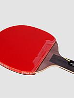abordables -DHS® Hurricane WANG CS Ping Pang/Tennis de table Raquettes En bois Fibre de carbone Caoutchouc Manche Court Boutons
