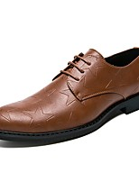 cheap -Men's Shoes Patent Leather Spring Fall Formal Shoes Oxfords for Wedding Office & Career Black Brown