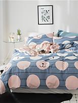 economico -Set Copripiumino Fantasia floreale 4 pezzi 100% cotone Stampa 100% cotone 1 Copripiumino Copri cuscino (2 pz.) Lenzuolo (1 pz.)