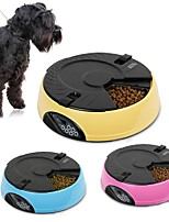 cheap -1 L Dogs Cats Pets Feeders Pet Bowls & Feeding Multi layer Sound Recording Automatic Yellow Blue Pink