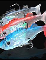 abordables -3 pcs leurres de pêche Shad Pêche en mer Pêche à la mouche Pêche d'appât Pêche sur glace Pêche aux spinnerbaits Pêche aux jigs Pêche